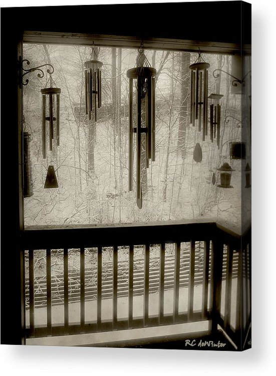 Balcony Acrylic Print featuring the photograph Breathe Deep The Gathering Gloom by RC DeWinter