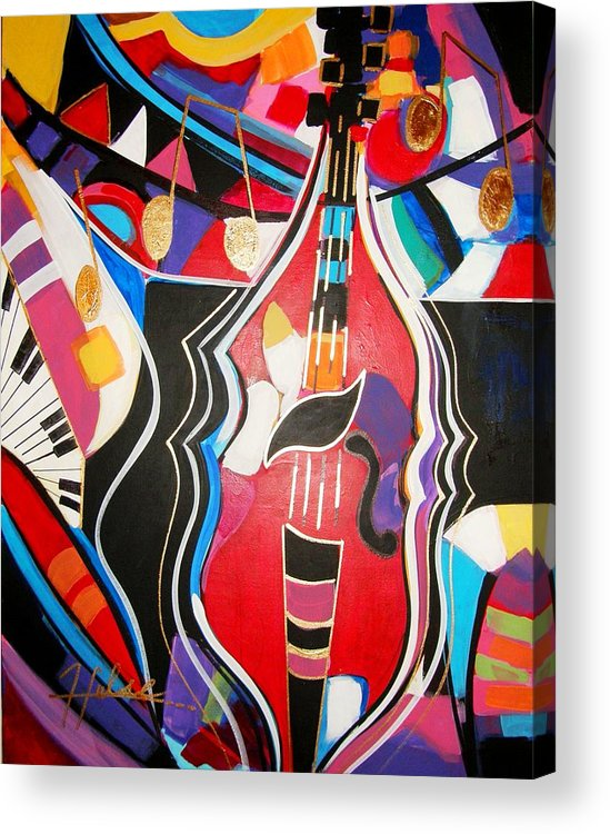 Music Acrylic Print featuring the painting Calling Me Home by Gina Hulse