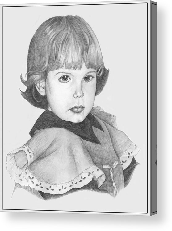 Pencil Drawings Acrylic Print featuring the drawing Caught Stealing Cookies by Winifred Ann Weishampel