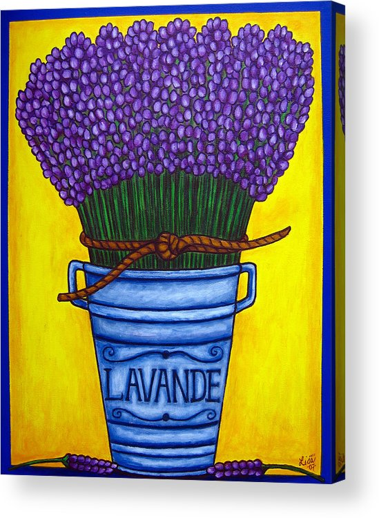 Antique Acrylic Print featuring the painting Colours Of Provence by Lisa Lorenz