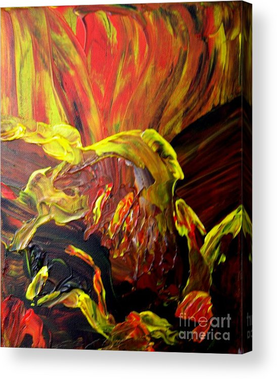 Bird Acrylic Print featuring the painting Come To Me by Karen L Christophersen