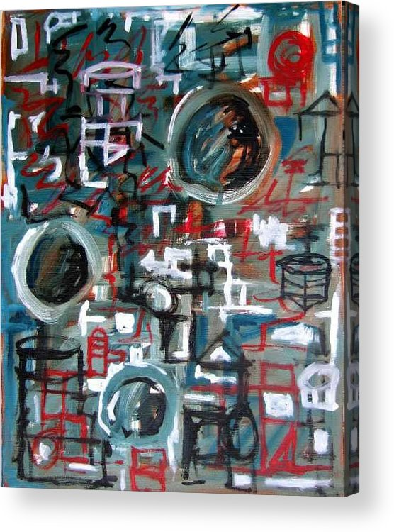 Abstract Acrylic Print featuring the painting Composition No 9 by Michael Henderson