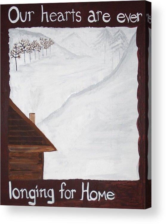 Snow Acrylic Print featuring the painting Ever Longing For Home by Marcie Mayo