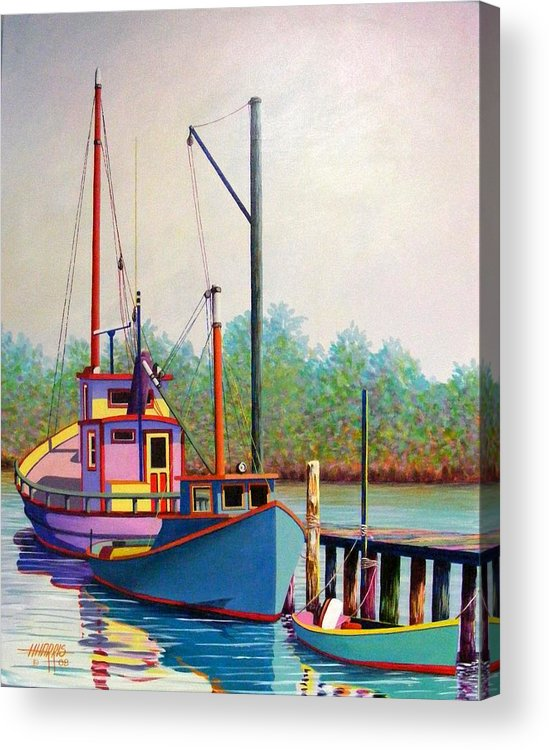 Landscape Acrylic Print featuring the painting Fancy Fleet by Hugh Harris