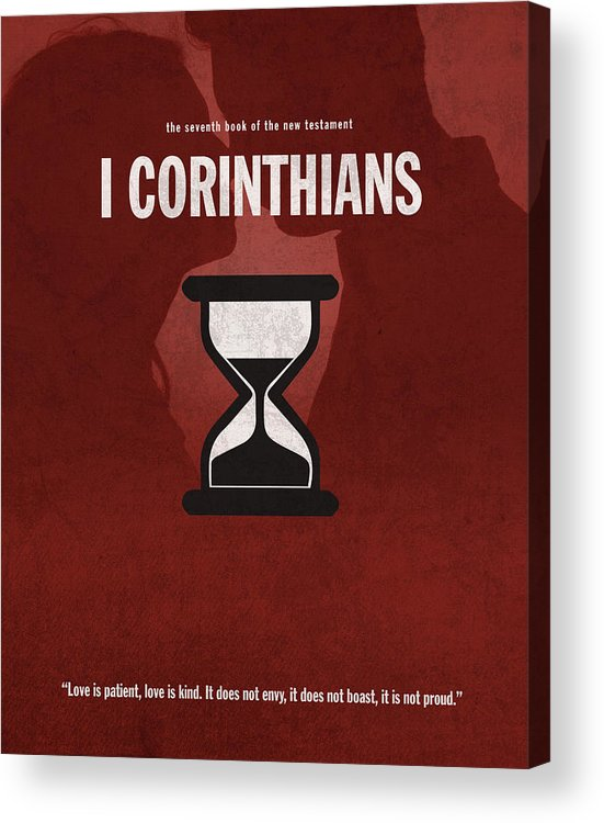 First Corinthians Acrylic Print featuring the mixed media First Corinthians Books Of The Bible Series New Testament Minimal Poster Art Number 07 by Design Turnpike