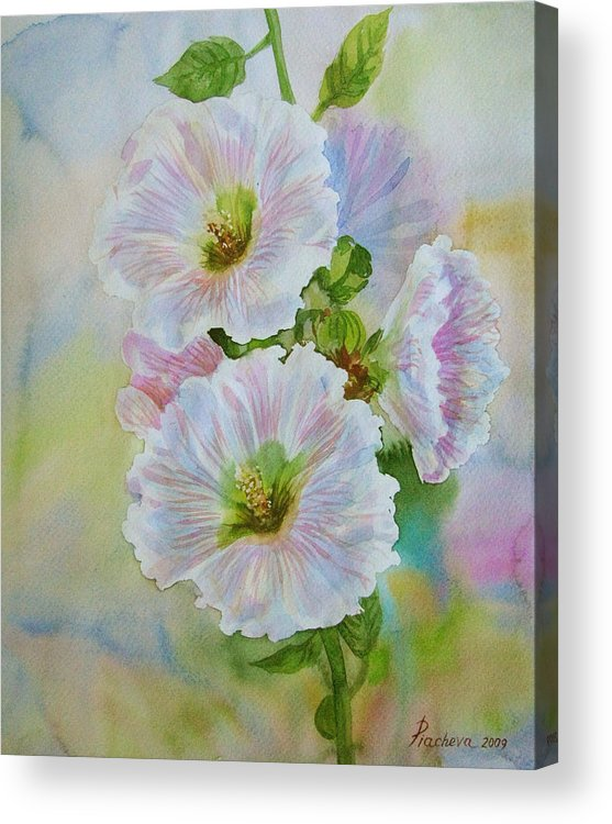 Flower Acrylic Print featuring the painting Flower In Summer. by Natalia Piacheva