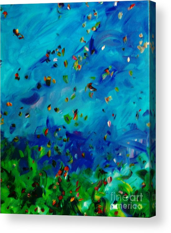 Landscape Acrylic Print featuring the painting Freelancing by Reina Resto