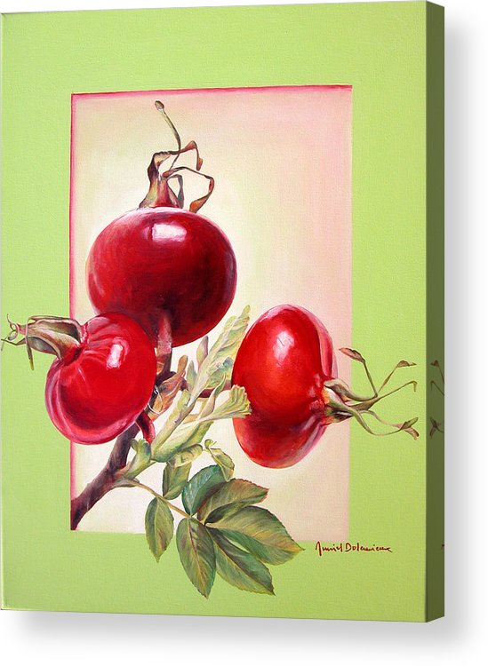 Still Life Acrylic Print featuring the painting Grenadine by Muriel Dolemieux