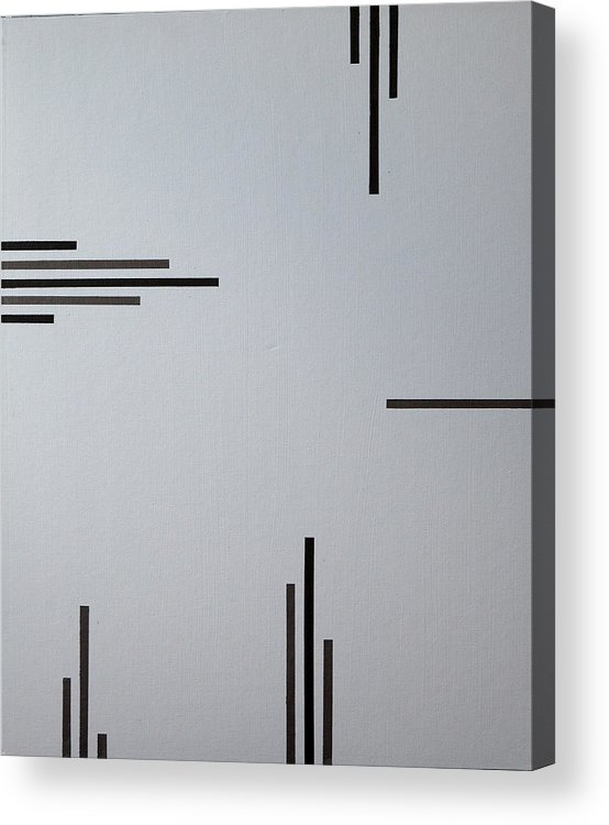 Black Acrylic Print featuring the painting Grey Space by Anders Hingel