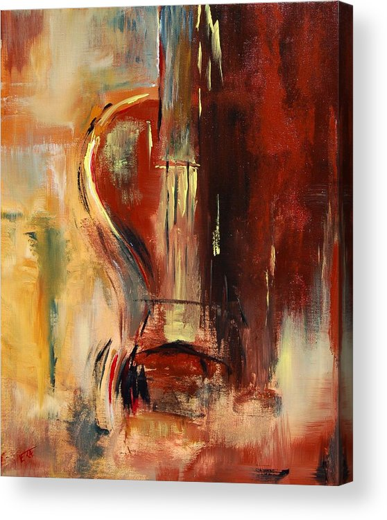 Music Acrylic Print featuring the painting Guitar by Veronique Radelet
