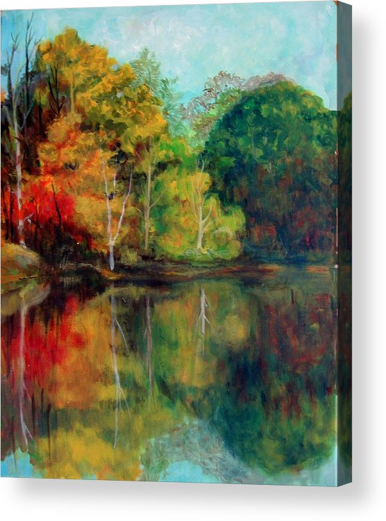 Happy Valley Acrylic Print featuring the photograph Happy Valley Pond by Lyn Vic