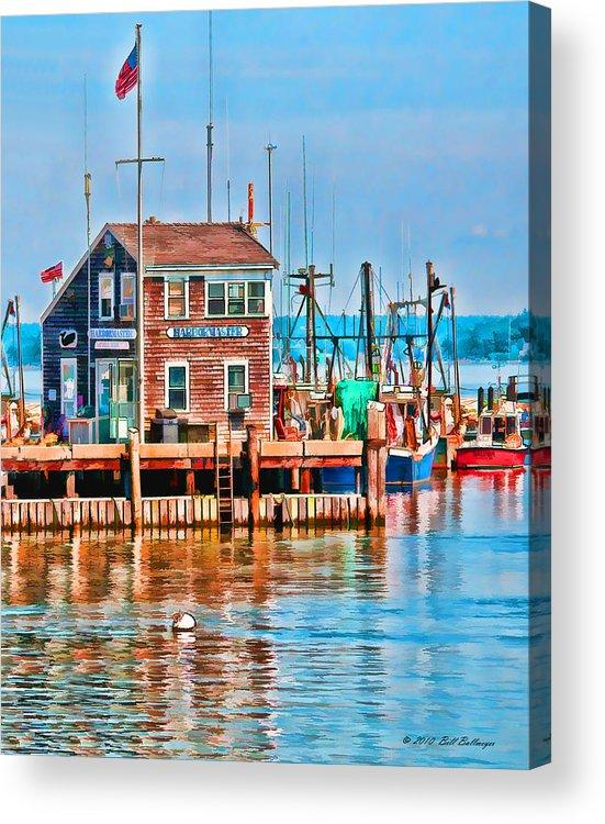 Ocean Acrylic Print featuring the digital art Harbor Master by Bill