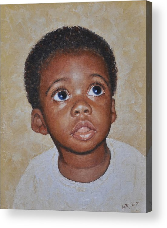 Portaits Acrylic Print featuring the painting He Is Coming by Iliyan Bozhanov