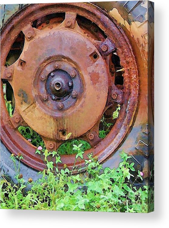 Rust Acrylic Print featuring the photograph Heavy Metal by Debbi Granruth