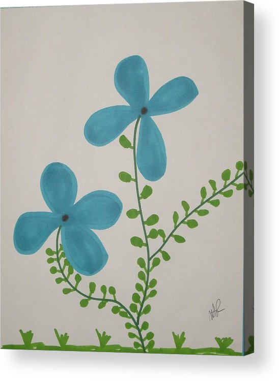 Flowers Acrylic Print featuring the drawing Hi by Nicholas A Roes