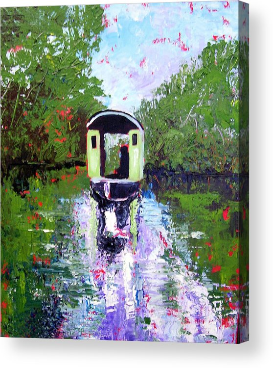 River Acrylic Print featuring the painting Homage To Monet by Paul Sandilands