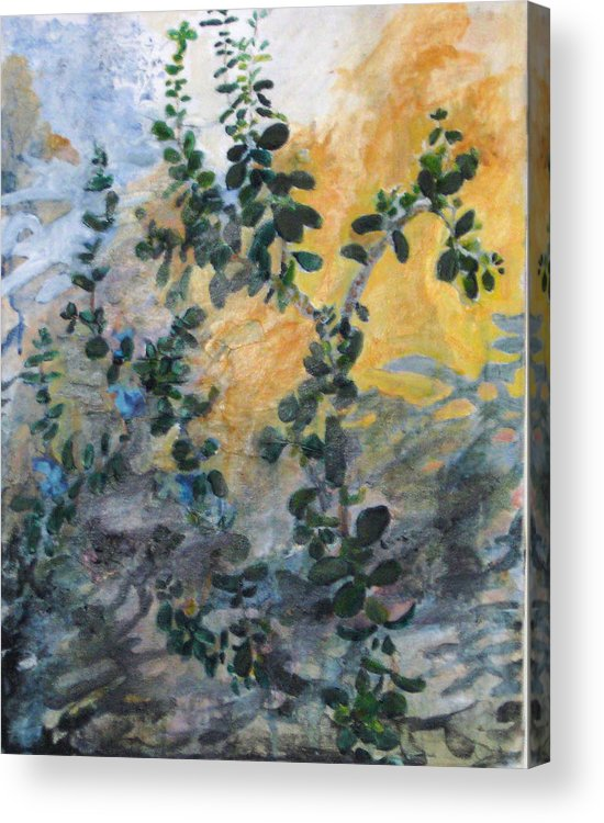 Garden Acrylic Print featuring the painting Jade by Alicia Kroll