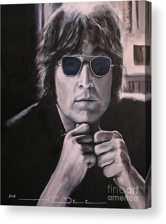 John Lennon Acrylic Print featuring the painting JL1 by Eric Dee