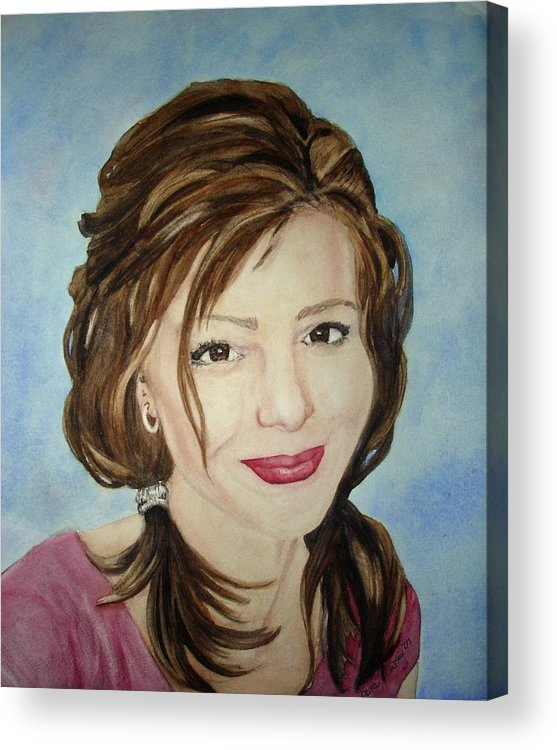 Artist Acrylic Print featuring the painting Kerra Lindsey Self Portrait by Kerra Lindsey