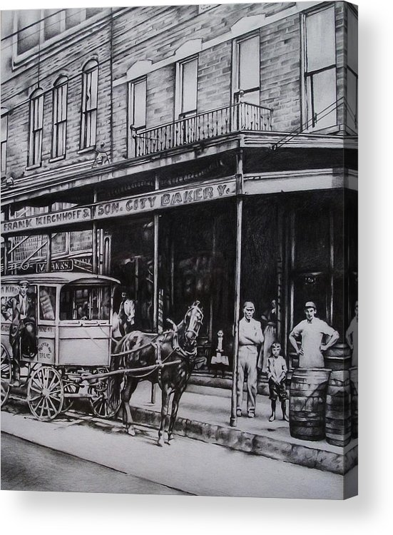 Paducah Acrylic Print featuring the drawing Kirchhoff by Michael Lee Summers