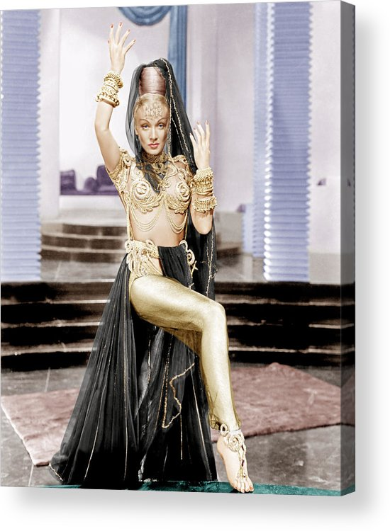 1940s Portraits Acrylic Print featuring the photograph Kismet, Marlene Dietrich, 1944 by Everett