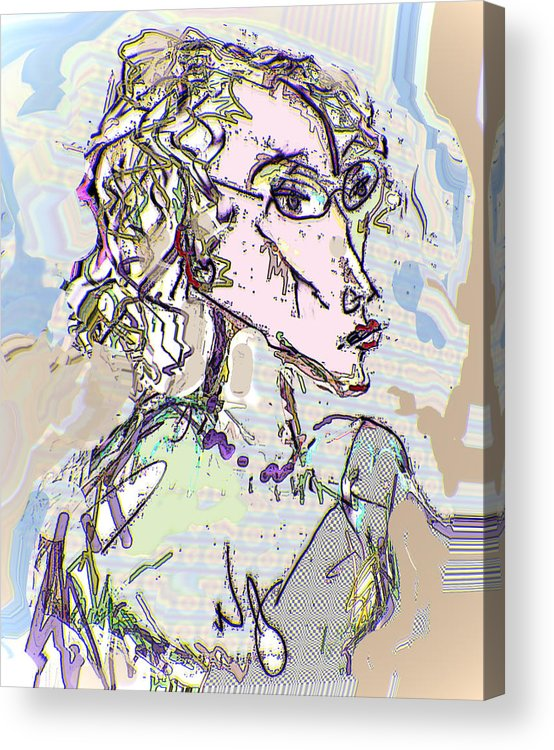 Life Drawing Acrylic Print featuring the digital art Kristine by Noredin Morgan