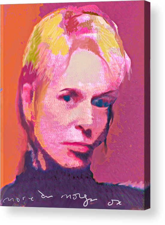 Portrait Acrylic Print featuring the painting Lauri by Noredin Morgan