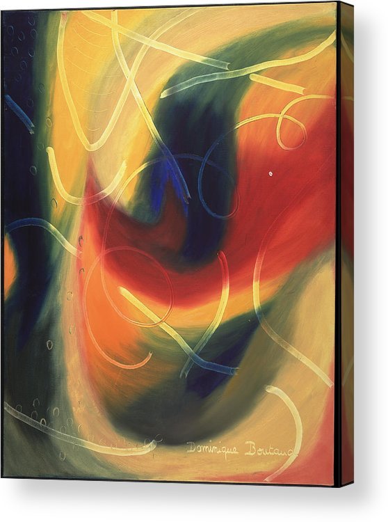 Abstract Acrylic Print featuring the painting Le Livre D by Dominique Boutaud