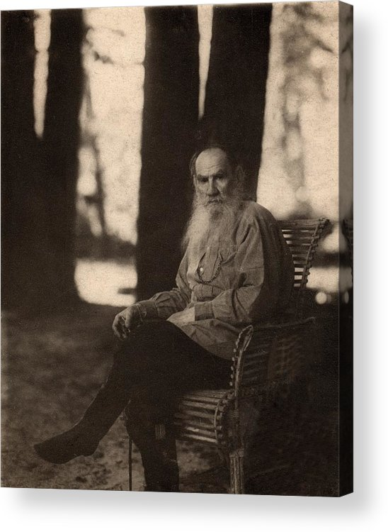 Historical Acrylic Print featuring the photograph Leo Tolstoy 1828-1910 Russian Novelist by Everett