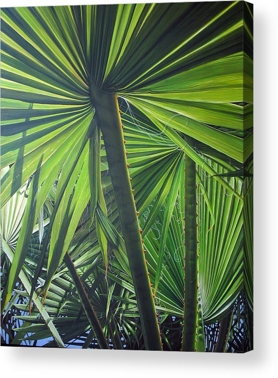 Palmtrees Acrylic Print featuring the painting Lights And Shadows by Laine Garrido