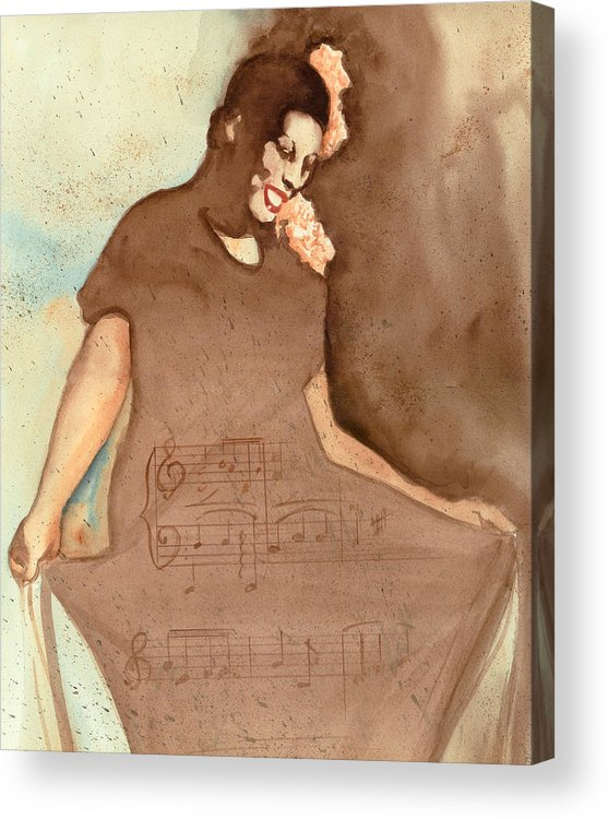 Portraits Acrylic Print featuring the painting L'il Green by Kay Robinson