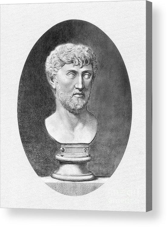 1st Century B.c. Acrylic Print featuring the photograph Lucretius (96 B.c.?-55 B.c.) by Granger