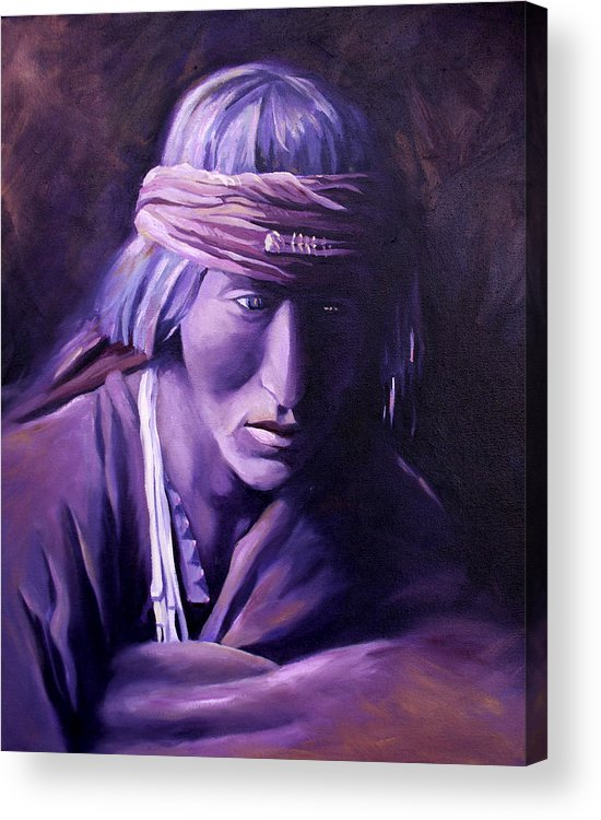 Native American Acrylic Print featuring the painting Medicine Man by Nancy Griswold