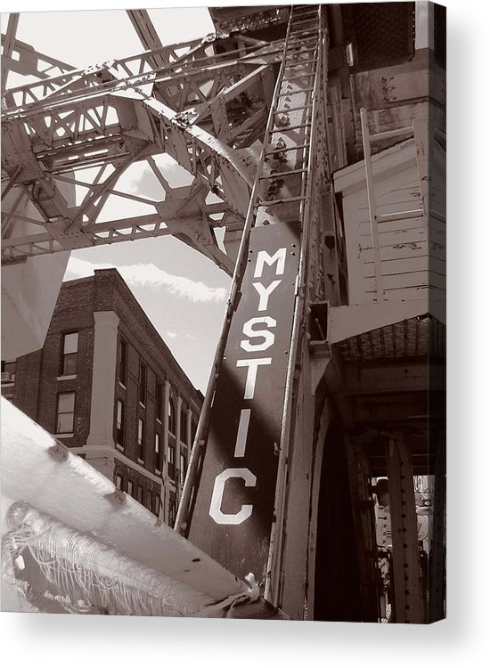Mystic Acrylic Print featuring the photograph Mystic Drawbridge by Heather Weikel
