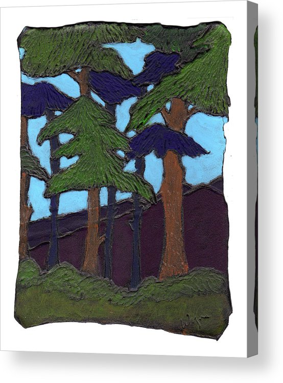 Tree Acrylic Print featuring the painting Northern Woods by Wayne Potrafka