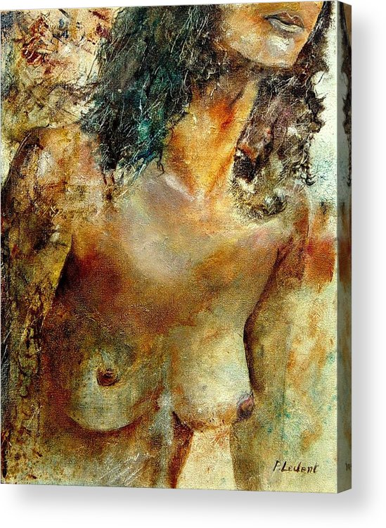 Girl Nude Acrylic Print featuring the painting Nude 34 by Pol Ledent