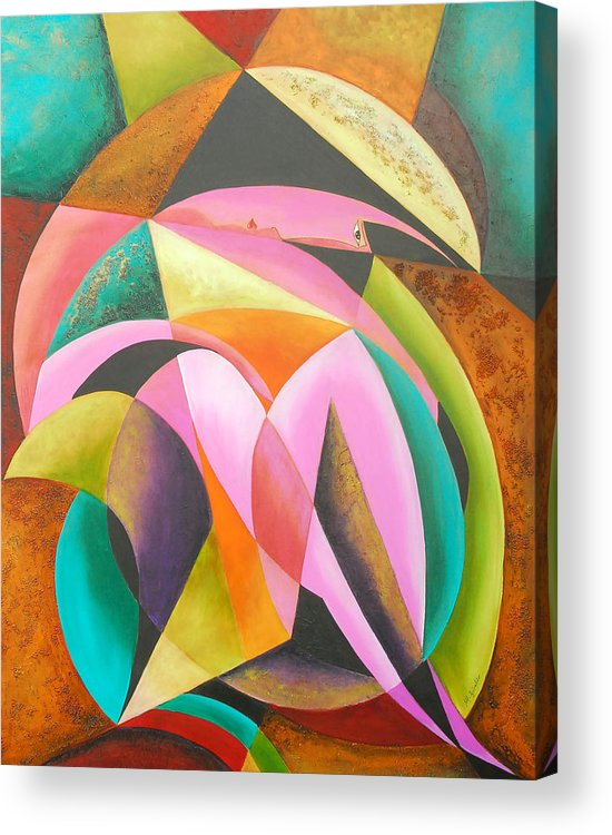 Abstract Expressionism Acrylic Print featuring the painting Odyssey Of Colors by Marta Giraldo