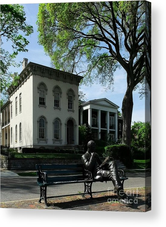 Covington Kentucky Acrylic Print featuring the photograph On Riverside Drive by Mel Steinhauer