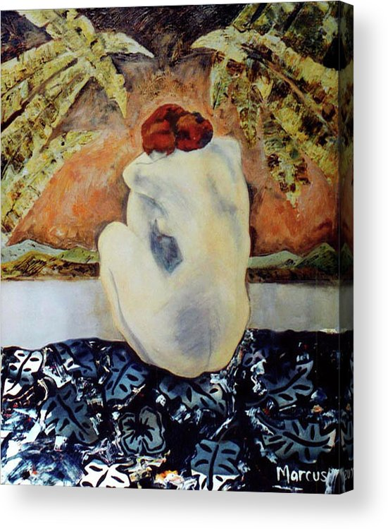 Female Acrylic Print featuring the painting Picasso's Hawaii by Leslie Marcus
