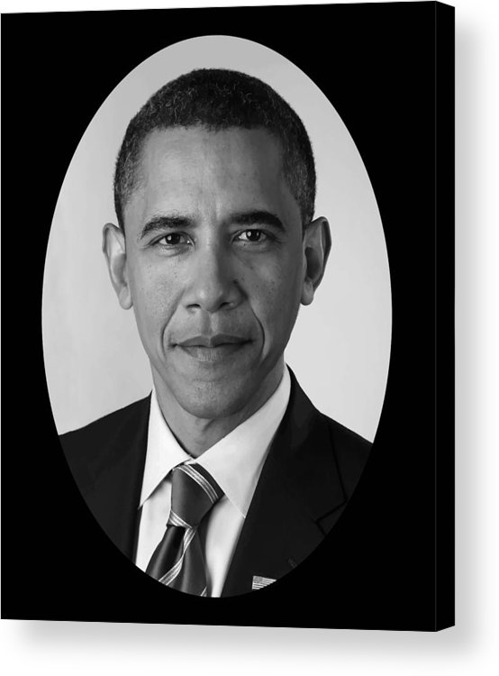 Obama Acrylic Print featuring the photograph President Barack Obama by War Is Hell Store