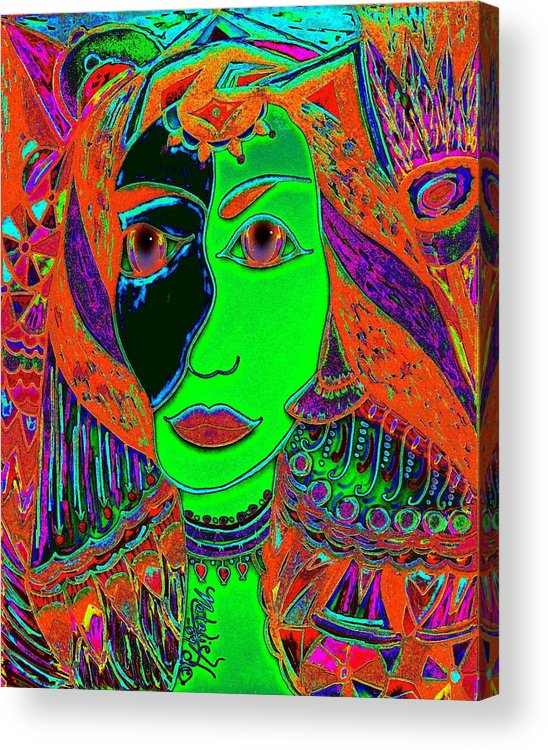 Queen Of The Nile Acrylic Print featuring the painting Queen Of The Nile by Natalie Holland