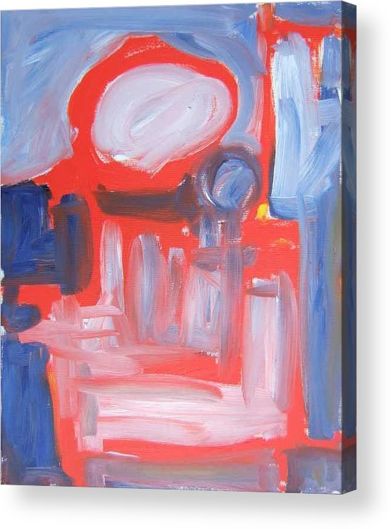 Abstract Acrylic Print featuring the painting Red Composition by Michael Henderson