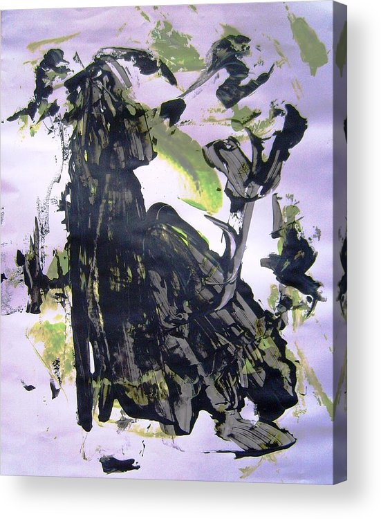 Abstract Acrylic Print featuring the painting Robot Breaking Up by Bruce Combs - REACH BEYOND