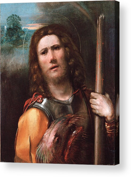 Dosso Dossi Acrylic Print featuring the painting Saint George by Dosso Dossi