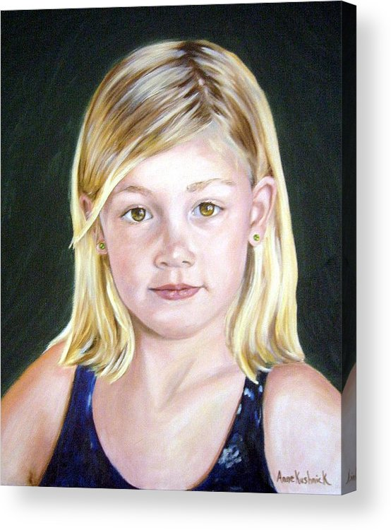 Portrait Acrylic Print featuring the painting Shannon by Anne Kushnick