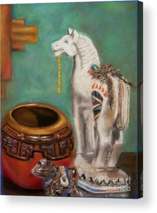 Southwest Art Acrylic Print featuring the painting Southwest Treasures by Frances Marino