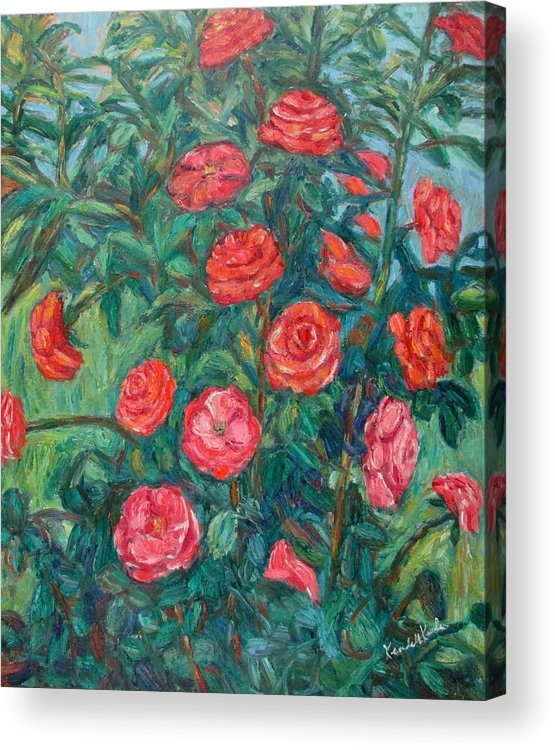 Rose Acrylic Print featuring the painting Spring Roses by Kendall Kessler