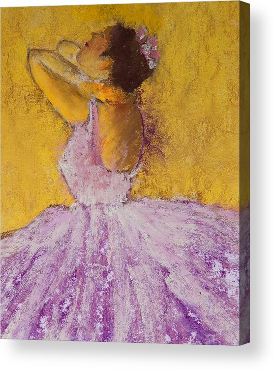 Pastel Acrylic Print featuring the painting The Ballet Dancer by David Patterson