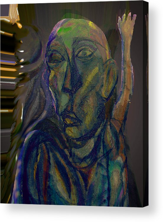 Illeagal Acrylic Print featuring the mixed media The Cell by Noredin Morgan