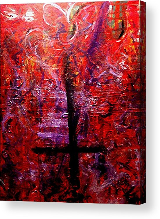 God Acrylic Print featuring the painting The Fallen Christian by Richard Hubal